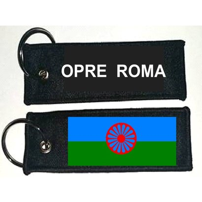 Sleutelhanger / Keyring Roma Opre flag Keyring