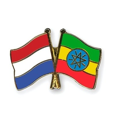 Speldje Netherlands Ethiopia flag Friendship lapel Pin