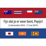 Vlag Welcome home Pepijn flag