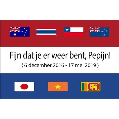 Vlag Welkom Thuis Pepijn