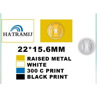 Speldje Hatramij flag lapel Pin gold