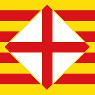 Vlag Barcelona Province flag