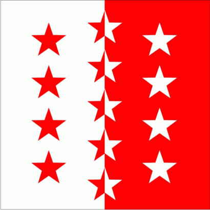 Vlag Vlag Wallis Kanton Zwitserland