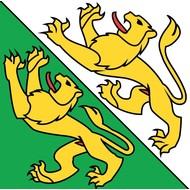 Vlag vlag Thurgau Kanton Zwitserland
