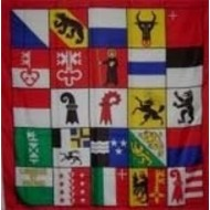 Vlag flag overview all Canton flags Switzerland