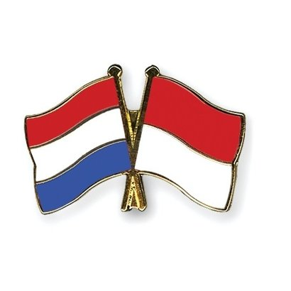 Speldje Netherlands Indonesia flag Friendship lapel Pin