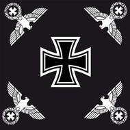 Vlag Duitse Reich Ijzeren Kruis vlag met vier Reichsadelaren
