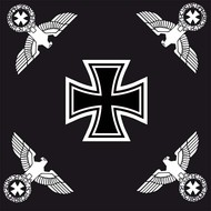 Vlag Imperial Germany Iron Cross flag with four eagles