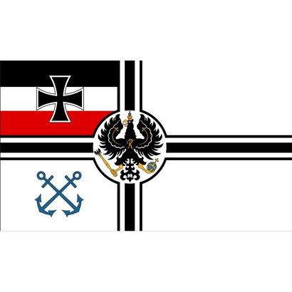 Vlag Duitse Keizerlijke Marine oorlogvlag1871 1892