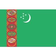 Vlag Turkmenistan Turkmeense vlag