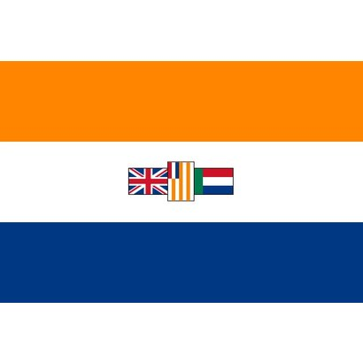 Vlag Zuid Afrika apartheid vlag tot 1994