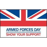 Stok- / zwaai-vlag Armed Forces Day handvlag