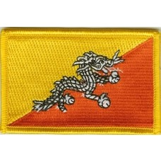 Patch Bhutan vlag patch