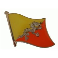 Speldje Bhutan flag lapel pin