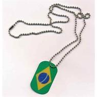 Dog Tag Brazil vlag Dog Tag