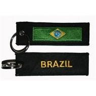 Sleutelhanger / Keyring Brazil flag Keyhanger keyring