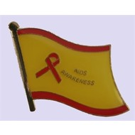 Speldje Aids Awareness flag lapel pin