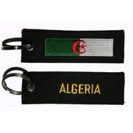 Sleutelhanger / Keyring Algerije vlag sleutelhanger