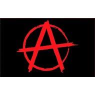 Vlag Anarchy Rood