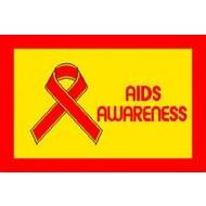 Vlag Aids Awareness flag