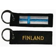 Sleutelhanger / Keyring Finland vlag sleutelhanger