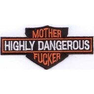 Patch Highly Dangerous Mother Fucker Harley patch