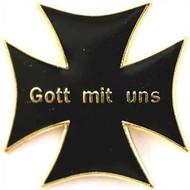 Speldje Gott mit uns flag lapel pin
