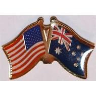 Speldje Verenigde Staten Australie vriendschapsvlag speldje