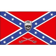 Vlag Confederates Death Head Skull flag
