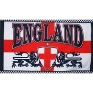 Vlag England with 2 Lions Football flag