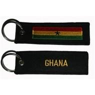Sleutelhanger / Keyring Ghana vlag sleutelhanger