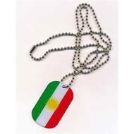 Dog Tag Koerdistan vlag dogtag