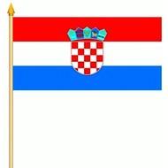 Stok- / zwaai-vlag Kroatia hand stok zwaaivlag