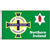 Vlag Northern Ireland Football