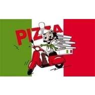 Vlag Pizza met Scooter