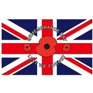 Vlag Poppy Lest We Forget Remembrance Day