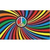 Vlag Regenboog Peace Psychedelic