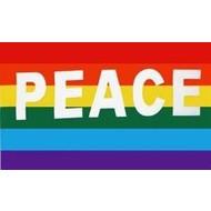 Vlag Rainbow Peace flag
