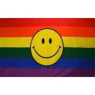 Vlag Regenboog vlag Smiley