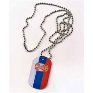Dog Tag Serbia flag Dog tag