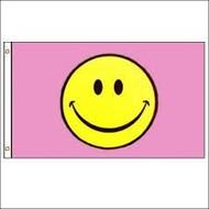 Vlag Smiley Pink vlag