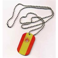 Dog Tag Spain flag dog tag necklace