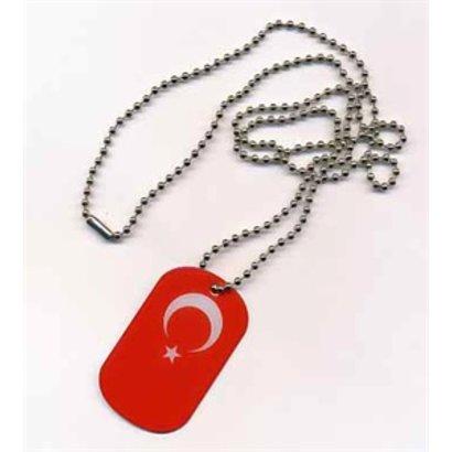 Dog Tag Turkije vlag DogTag