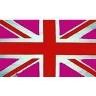 Vlag UK Union Jack England Verenigde Koninkrijk Pink Roze
