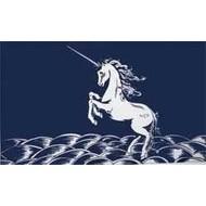Vlag Unicorn Blue Eenhoorn vlag