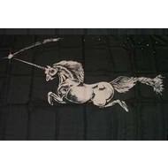 Vlag Unicorn Black Eenhoorn