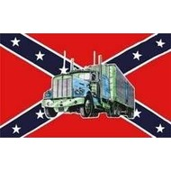 Vlag Confederate Trucker vrachtwagon