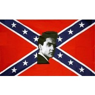 Vlag Confederate Elvis flag
