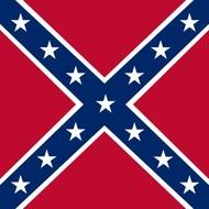 Stok- / zwaai-vlag Confederate stick waving flag