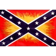 Vlag Confederate Flames Vlammen